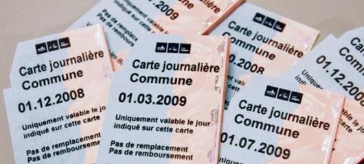 Pour réintroduire les cartes journalières CFF