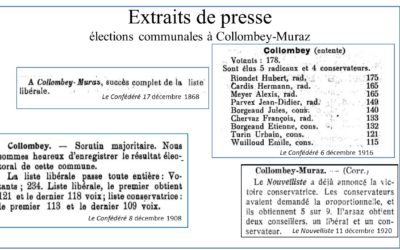 L'âge d'or des libéraux-radicaux à Collombey-Muraz