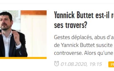 Réaction du PLRCM aux accusations de Yannick Buttet